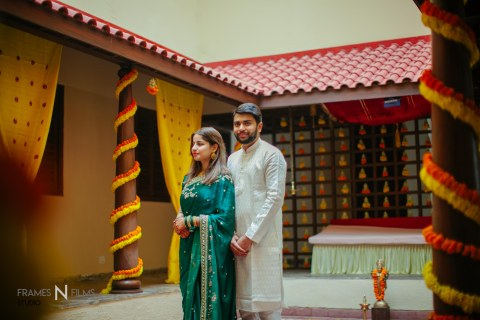 Sabrina N Dhruvik – Celebrating the coming together of Two religions, two Souls into Oneness – A Destination wedding shot at Kensville Golf living resorts and Spa, Ahmedabad.